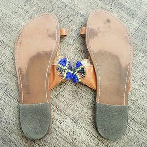 7e9ecbfa7 Sam Edelman Shoes - Sam Edelman GERRY Beaded Leather Thong Sandals 10